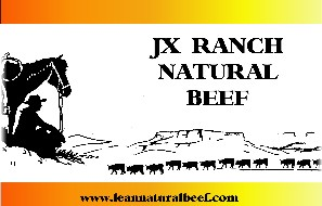 JX Ranch Natural Beef logo