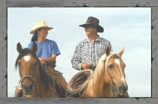 Mimi and Tom Sidwell on the JX Ranch